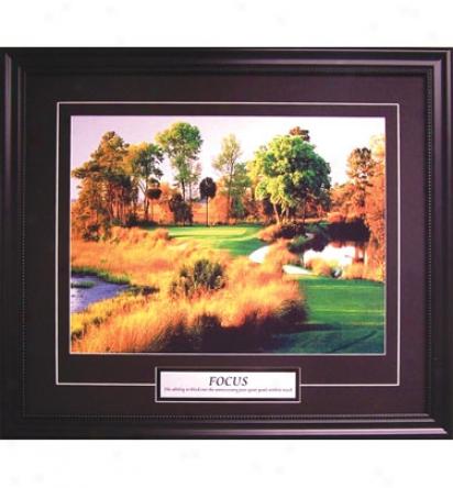 Golf Gifts & Gallery Framed Art - Focus, 25  X 21