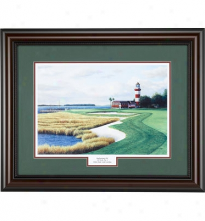 Golf Gifts & Gallery Framed Art - Harbour Town #18, 24  X 30