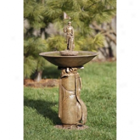 Golf Gifts & Gallery Golf Bag Bird Bath