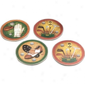 Golf Gifts & Hanging platform Nostalgic Sandstone Coasters