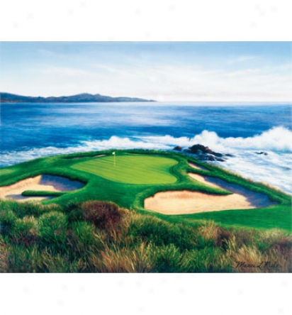 Golf Gifts & Gallery Unframed 29 X23  Canvas Pebble Beach #7