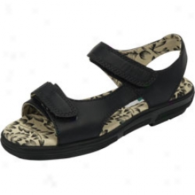 Golfstream Shoes, Inc Two Strap Sandal Black
