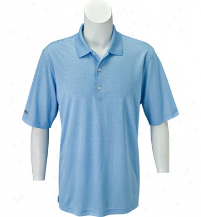 Greg Norman Men S Grid Jacquard Polo