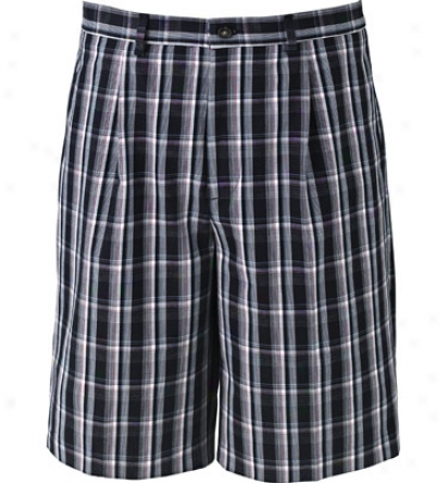 Greg Norman Men S Pleated Plaid Short