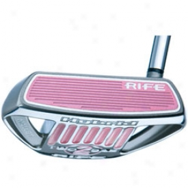 Guerin Rife Putters Pink Two Bar Hybrid Mallet Putter