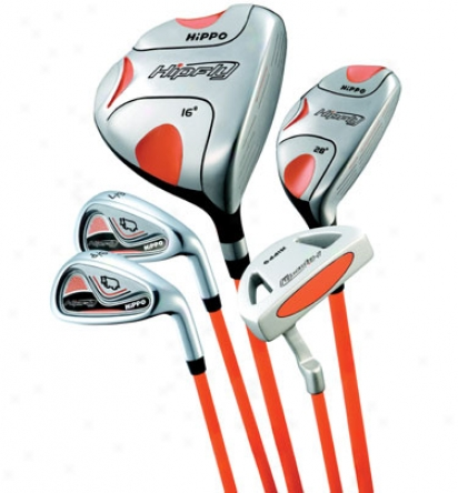 Hippo Golf Hipfly Flame Orange Junior Set Ages 9-12