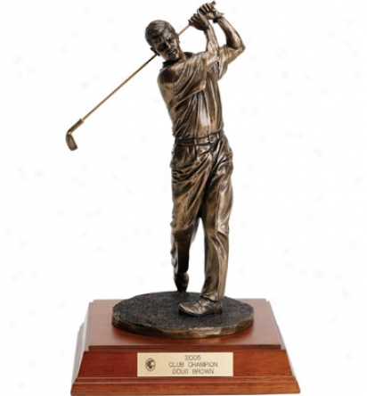 Jba Awards Personalized 13  Brpnze Male Golf Sculpture