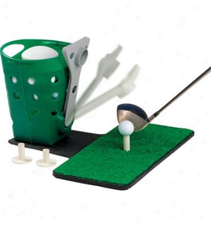 Jef World Of Golf Ball Dispenser With Mat