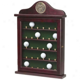 Jg Hickory 30 Hole Cherry Ball Rack With Glass Passage