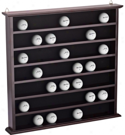 Jg Hickory 49 Hole Cherry Ball Rack