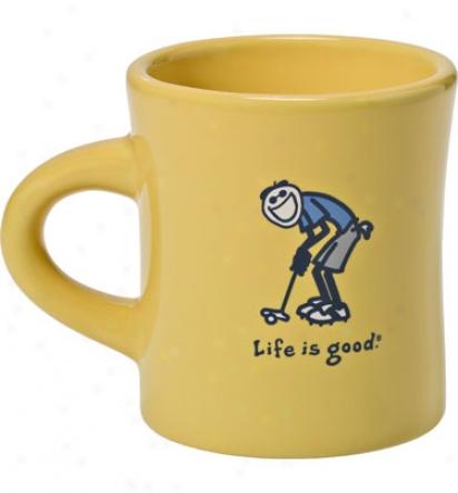 Life Is Gkod Diner Mug - Putt