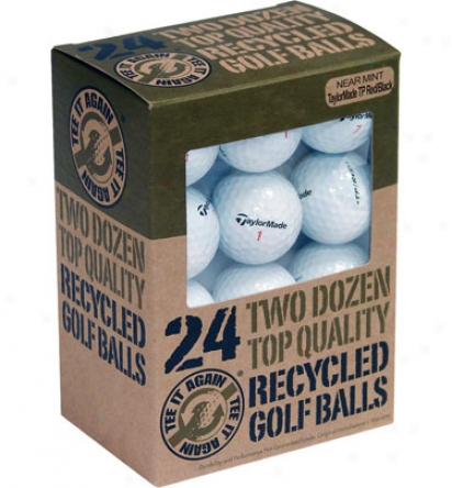 Links Select Recycled Taylormade Tp Premium Red/black Golf Balls