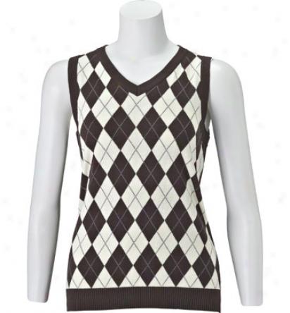 Maggie Lane Argyle Sweater Vest