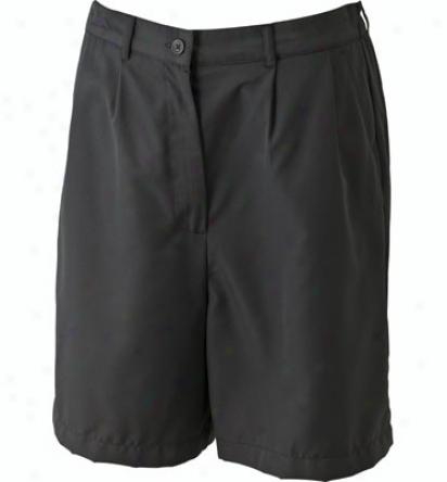 Maggie Lane Pleated Microfiber Shorts