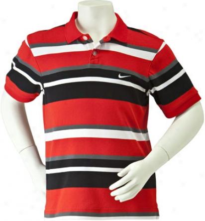 Nike Boys Dri-fit Bold Stripe Polo