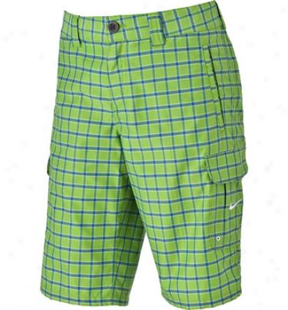 Nike Boys Dri-fit Plaid Short