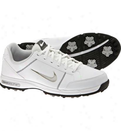 Nike Boys Junior Remix Golf Shoes - White/dark Gray/black