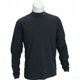 Nike Logo Dri-fit Interlock Long Sleeve Mock Turtleneck