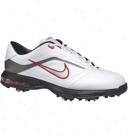 Nike Air Academy Golf Shoes White Silver Black