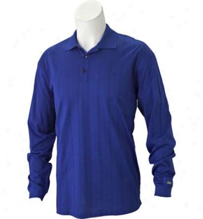 Nike Men S Dri-fit Drop Needle Lobg Sleeve Polo