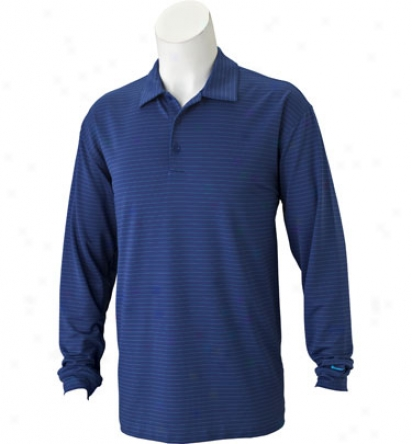 Nike Men S Dri-fit Stripe Long Sleeve Polo