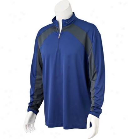 Nike Men S Drifit Long Sleeve Sp Colorblock Mock