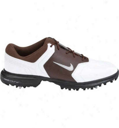 Nike Men S Heritage - White/metallic Silver/brown
