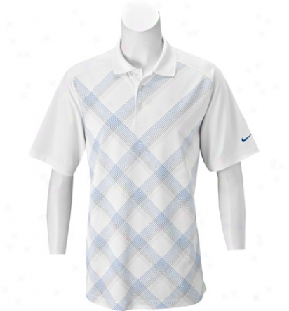 Nike Men S Tour Dri-fit Plaid Print Poio