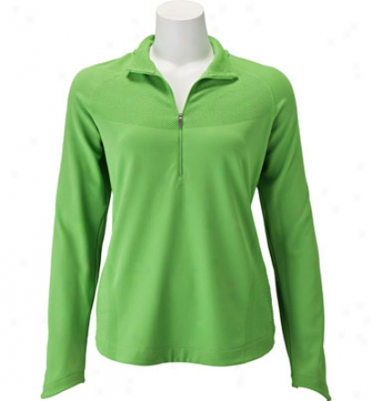 Nike Womens 1/2 Zip Long Sleeve Top