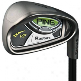 Preowned Ping Rapture V2 Iron Set 3-pw With Graphite Shafts