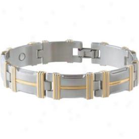 Sabona Chief magistrate Beveled Edge Duet Magnetic Bracelet