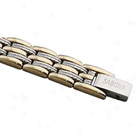 Sabona Executive Regal Duet Magnetic Bracelet
