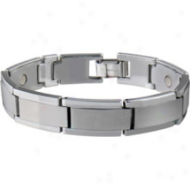 Sabona Tungsten Carbide Brushed Magnetic Bracelet