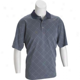 Snake Eyes Tour Designs Short Sleeve Argyle Distil Needle Polo