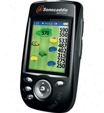Sonocaddie Auto Play Preloaded Color Gps