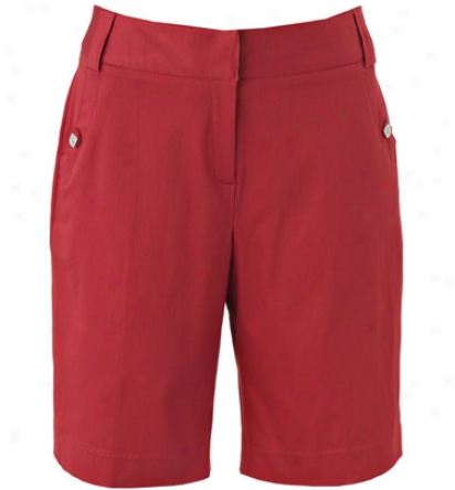 Sport Haley Women S 20  Solid Short With Silver Button Detail
