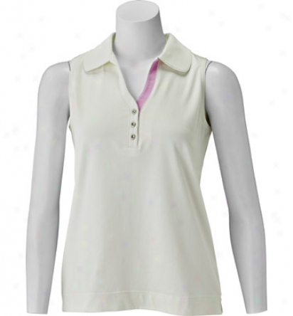 Sport Haley Women S Sleeveless Polo With Polished Silver Button