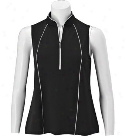 Sport Haley Women S Sleeveless Tulip Collar Polo
