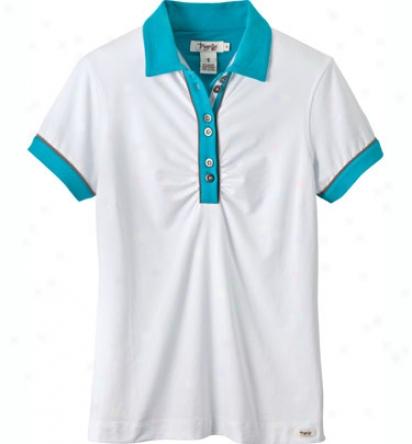 Trigelle Women S Short Sleege Colorblocked Polo