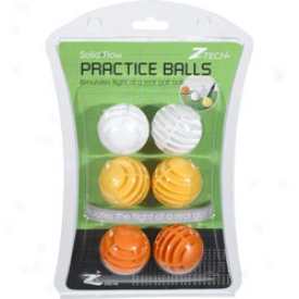 Z Tech Straight Shot Practice Ball 6 Pack