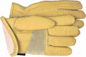 12 Pair - Leather Thinsulate Lined Outdoor Gloves - Yellow