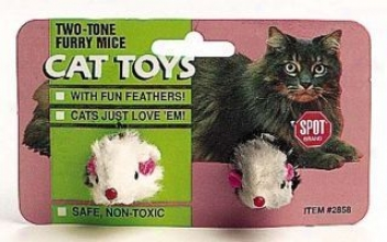 2-tone Fur And Feather Mouse - Assorted