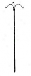 3-arm Tree For Hanging Plants - Black - 36in