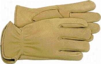 6 Pair - Unlined Deerskin Work Gloves - Medium