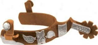 Abetta Old Floral Show Spurs - Antique Brown - Men's