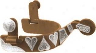 Abetta Antique Heart Spurs - Antique Brown - Men's