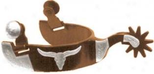 Abetta Antique Longhorn Spurs - Antjque Brown - Men's