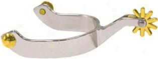 Abetta Bent Show Spurs - Stainless Steel - Men's