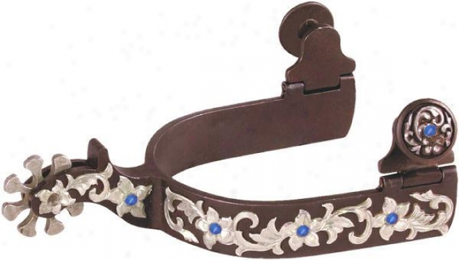 Abetta California Spurs With Crystals - Antique Brown - Adult