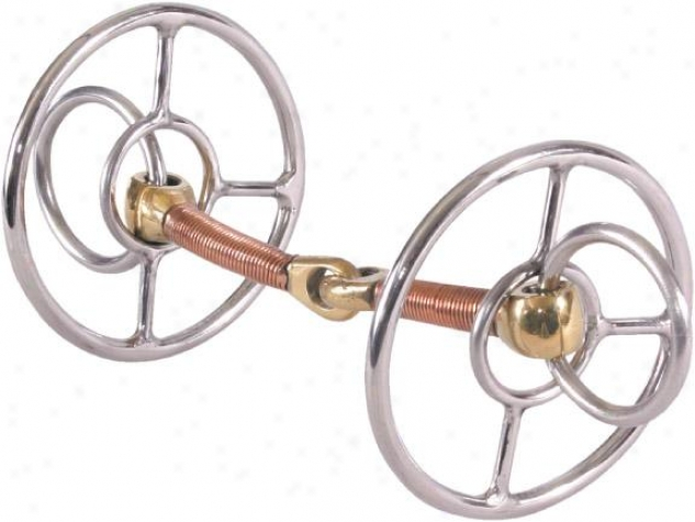 Abetta Double Ring Snaffle Bit - Stainless Steel - 5